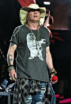 Axl Rose of Guns N' Roses, August 2016