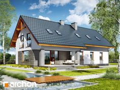 Dom w skrzydłokwiatach 2 Design Case, Cool Rooms, Home Fashion, Gazebo, Outdoor Structures, House Design, Cabin, House Styles, Gallery