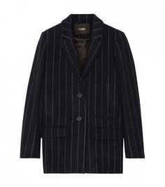 Vampas Pinstriped Wool-Blend Gabardine Blazer