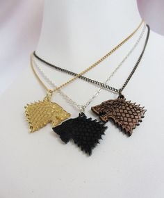Direwolf Necklaces