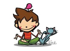 JoAN TuRu Doodle Icon, Turu, Cute Doodles, Yoga For Kids, Animals For Kids, Pet Toys, Charlie Brown, Bowser, Illustration Art