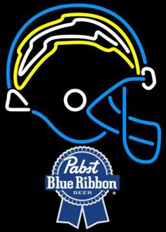 Pabst Blue Ribbon San Diego Chargers NFL Neon Sign 3 0017, Pabst with NFL Neon Signs | Beer with Sports Signs. Makes a great gift. High impact, eye catching, real glass tube neon sign. In stock. Ships in 5 days or less. Brand New Indoor Neon Sign. Neon Tube thickness is 9MM. All Neon Signs have 1 year warranty and 0% breakage guarantee.