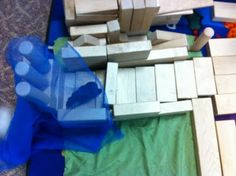 Block play- After reading Goldilocks and the 3 Bears. Children re-created story