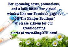 www.ShopOTH.com an online store coming soon!