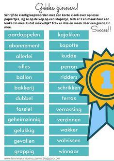 Dutch Words, Fun Learning, Games For Kids, Spelling, Teacher, Chart, School, Games For Children, Professor