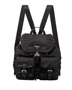 2839f7b71d23 Prada Vela Large Two-Pocket Backpack