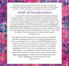 Oath of Manifestation - agapelive.com