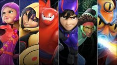 Big Hero 6. Honey Lemon. Gogo. Baymax. Hiro. Wasabi. Fred... Fred gave them their nicknames