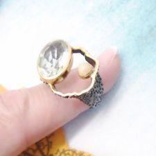 Amethyst Opal grün gold schwarz Design Ring Ø 17,25 mm 925 Sterling Silber neu Black Rhodium, Gemstone Rings, Gemstones, Jewelry, Design, Silver, Ring, Black, Jewellery Making