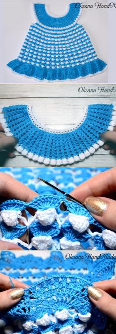 How To Crochet Beautiful Baby Dress. Easy To Make Aboslutly Free Guided Video Tutorial,