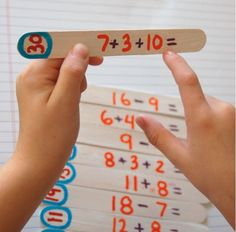 Learning doesn't stop over summer break! Get your child ready for the next school year with these math sticks!