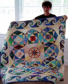 snails trail quilts | Memorial Quilt. Notice the snail's trail design on the border. Beautiful.