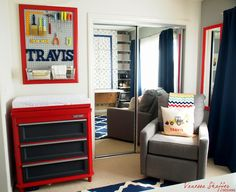 Vanessa Shaffer Designs Travis Construction Themed Nursery With Workbench Inspired Diaper Changing Station Adorable
