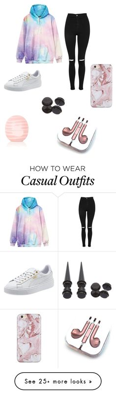 """""""Casual"""" by lizeth-perez on Polyvore featuring Topshop, Eos, Hot Topic and PhunkeeTree"""