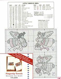 Schema punto croce Abc Country Angel 10