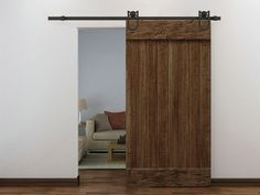 Edxtech 6 FT Dark Coffee Wood Steel Sliding Door Hardware Set Barn Antique Style Closet ** See this great product. (This is an affiliate link) Interior Barn Door Hardware, Sliding Door Hardware, Cupboard Door Knobs, Kitchen Cupboard Doors, Wooden Door Design, Main Door Design, Old Door Decor, Closet Door Makeover, Steel Barns