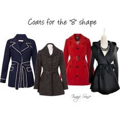 Coats for figure eight body shape