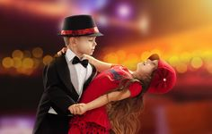 stylish romantic couple | Cute Kid Dancing Romantic Love HD Wallpaper - StylishHDWallpapers