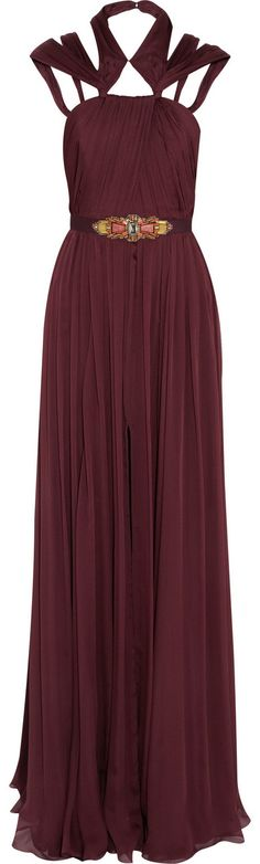 Shop for Silk-chiffon gown by Matthew Williamson at ShopStyle. Gala Dresses, Evening Dresses, Dressed To The Nines, Fashion Details, Fashion Ideas, Women's Fashion, Chiffon Gown, Matthew Williamson, Queen