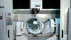 5 axis cnc milling machine demo - YouTube