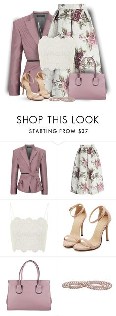 """Floral Skirt"" by daiscat ❤ liked on Polyvore featuring Haider Ackermann, Chicwish, Topshop and Tod's"
