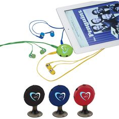 Our Icona 5-in-1 Universal Music Splitter allows up to five people to listen to the same media device at the same time. Can also be used as a stand. Earbuds and Media device not included. #promotionalproduct #promotional #product #musicsplitter #music #earphones #earbuds #headphones