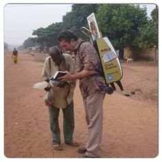Cart (trolley) witnessing in the Cote d Ivoire  In the countries that are not materialistic people love the Bible. There is a great need for elders in all the new congregations being formed worldwide.