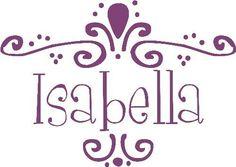 ISABELLA PERSONALIZE CUSTOM NAME 13x30 SIZE por ItsWrittenOnTheWall