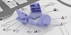 rhino massing map of Media Complex // CAAT Studio Architecture