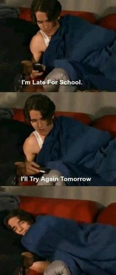 Whenever I'm late for school
