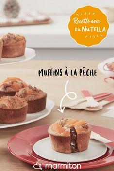 Cet été, on prépare cette recette de muffins aux pêches et au Nutella ! #recettemarmiton #marmiton #recette #recettefacile #recetterapide #faitmaison #cuisine #ideesrecettes #inspiration #nutella #muffins #dessert #gouter #muffinsnutella Biscuit Amaretti, Nutella, Biscuits, Muffins, Cotija Cheese, Recipe Girl, Food Stamps, Cooking Recipes, Easy Recipes
