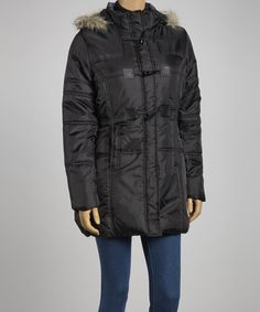 While the weather outside is frightful, this jacket's just simply delightful! Featuring a puffed silhouette and faux fur-lined hood, it'll banish chills while looking chic.Measurements (size M): 30'' long from high point of shoulder to hem100% polyesterMachine wash; tumble dryImported...