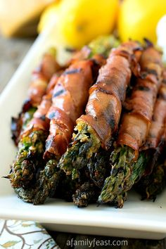 Parmesan-Coated Asparagus Wrapped in Prosciutto - Not your typical version of this classic appetizer!
