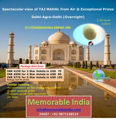 Spectacular view of TAJ MAHAL from Air @ Exceptional Prizes  Delhi-Agra-Delhi (Overnight)