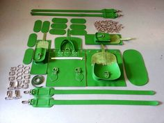 Green Grafea Hari Rucksack in Pieces
