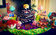 Willy Wonka Candy Bar #coloradospringsevents #gardenofthegodsgourmetcatering #candybar #willywonkaevent #catering