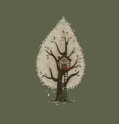 Tree House by Ruxi Li, Art Print