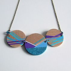 Brighten up any outfit with a simple, pretty Wooden Circle Glitter Necklace chosen by @Fritha Tigerlilly
