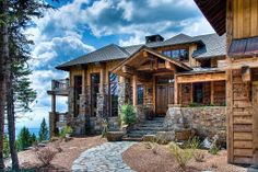 A beautiful cabin is waiting on top of the hill.