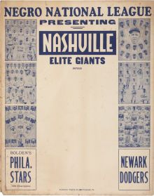 One of the greatest broadsides ever to surface from the woefully endangered - Available at 2010 April Signature Sports. Negro League Baseball, National League, African American History, Dodgers, American Pride