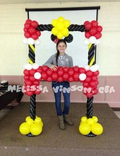 Mickey frame Fiesta Mickey Mouse, Mickey Mouse Clubhouse Birthday, Mickey Party, Mickey Minnie Mouse, Balloon Columns, Balloon Wall, Balloon Arch, Mickey Mouse Decorations, Balloon Decorations