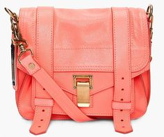 Proenza Schouler Ps1 Neon Coral Pouch Bag on Wanelo