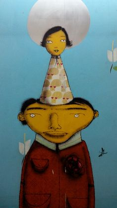 "Os Gemeos - ""the twins"" two brothers who have defined graffiti art in Brasil."