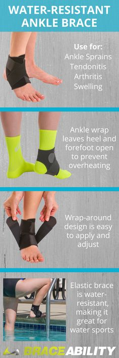 699ef53a7a Neoprene Water-Resistant Ankle Brace Wrap for Swimming, Athletic Support  and Sprains