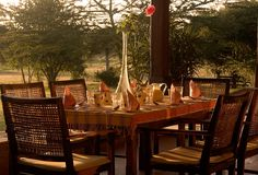 Breakfast on Safari! Enjoy Luxury Safari Accommodation at Sosian. Your Luxury Safari Kenya can be spent in our elegant accommodation. Start you Luxury African Safari at Sosian.