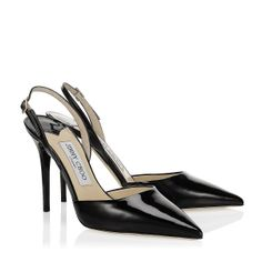 Jimmy Choo - Tarida - 247taridapat - Black  Patent Leather Sling Back Pumps