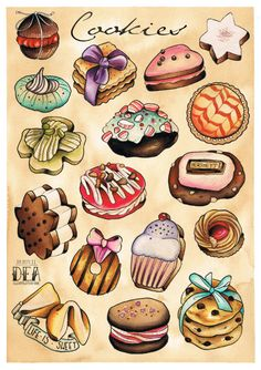 Cookie Poster. $10.00, via Etsy.