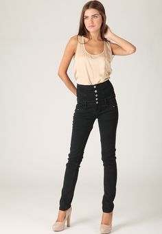 High wasted jeans make everyones legs look longer. Of this I am convinced.
