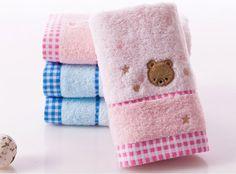 brand kids soft hand towel embroidery blue cotton face towel skin care health #kingshore