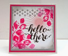 Marits blog: Stampin' Up! Kinda eclectic, Hello There